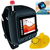 JUDAO Smart HD Wireless Armbanduhr Fisch-Finder Wasserdicht Wiederaufladbar 147Füße Wasser Tiefe Sonar Sounder