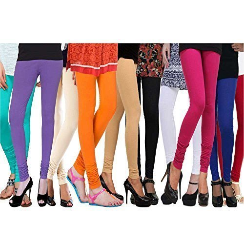 Rooliums Cotton Lycra Leggings Combo (Pack of 10) 4 Way, 140 GSM - Free Size (Colours: T-LPURP-C-O-BE-B-W-P-BL-R)