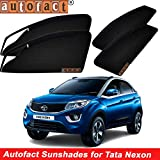 #4: Autofact Magnetic Window Sunshades/Curtains for Tata Nexon [Set of 4pc - Front 2pc With Zipper ; Rear 2pc Without Zipper] (Black)