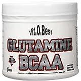 Vit-O-Best Glutamina + BCAA Complex, Suplementos Alimentarios para Deportistas, Sabor a Limón - 500 gr