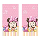 Minnie Mouse 1st Birthday Party Plastic Tablecovers - 2 Pieces