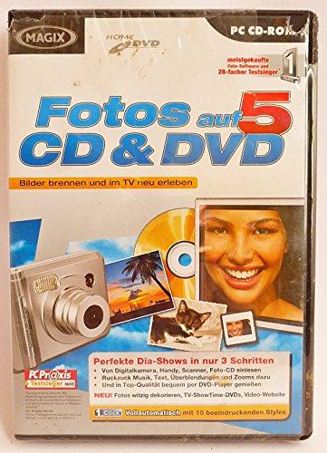MAGIX Fotos auf CD & DVD 5 Bilder brennen und im TV neu erleben, perfekte Dia-Shows in nur 3 Schritten