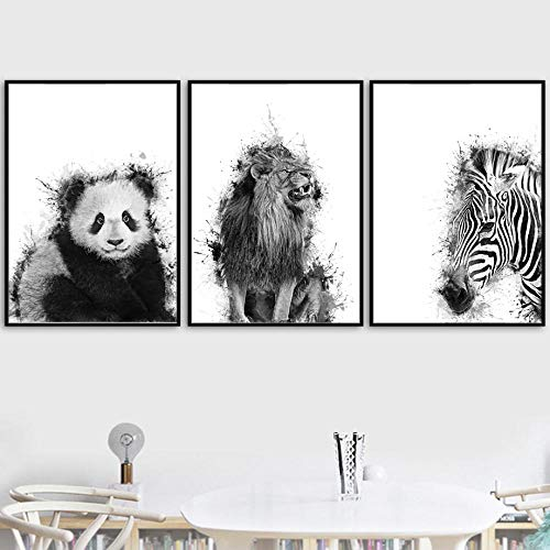 León panda cebra guepardo arte pared lienzo pintura