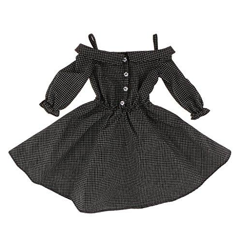 Unbekannt BJD Bekleidung Schwarzes Plaid Schultergurt Kleid Für 1/3 MSD LUTS - Schwarz Plaid Bekleidung