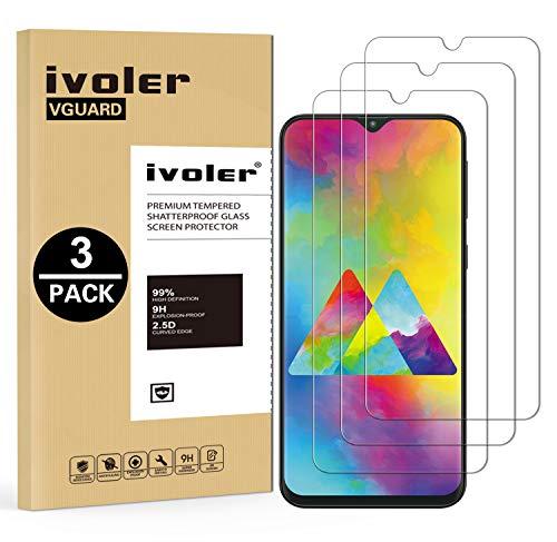 VGUARD [3 Pack Pellicola Vetro Temperato per Samsung Galaxy M20 [Garanzia a Vita], Pellicola Protettiva Protezione per Schermo per Samsung Galaxy M20