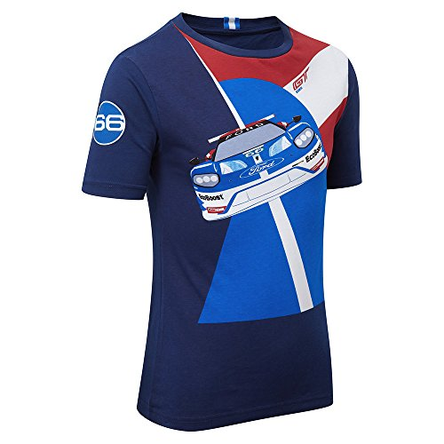 Ford Performance Kids Auto T-Shirt Kinder blau TOP, Blues, Kids S 4-5years (Chest 70cms) (Ford-kinder-t-shirt)
