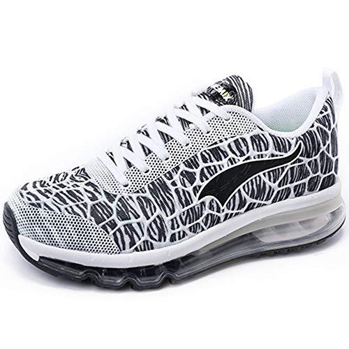 ONEMIX Air Uomo Donna Scarpe da Corsa Sportive Running Sneakers Casual all'Aperto Bianco/Grigio/Nero 39 EU