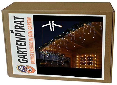 Gartenpirat Eisregen Lichterkette 12m 480 LED-Mix warmweiß/kaltweiß
