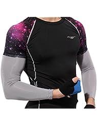 ForNeat Unisex Protección UV Manguitos de enfriamiento Funda de piel para deportes al aire libre (Gris Claro)