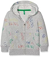 United Colors of Benetton Boy's Jacket Wforwardslashhood L/S Hoodie, Grey (Light Grey), 1-2 Years (Manufacturer Size:1 Year)