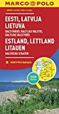 MARCO POLO Länderkarte Estland, Lettland, Litauen, Baltische Staaten 1: 800 000 (MARCO POLO Länderkarten) - Collectif
