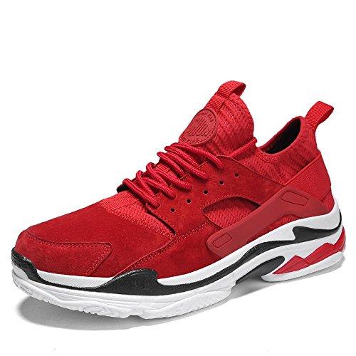 LVZAIXI scarpe Scarpe Sportive Scarpe Da Uomo Versione Coreana Leisure Scarpe Da Corsa accogliente ( Colore : Rosso , dimensioni : EU39/UK6.5/CN40 )