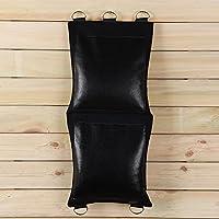 Negro Canvas Punching wallbag para Wing Chun mandril de puño práctica diferentes estilo Opción (Real piel de vaca, 2-section) bcr002