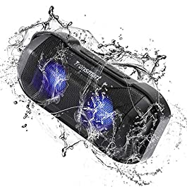 Portable Bluetooth Speaker 14W, Tronsmart Blaze Wireless Outdoor Speakers with Superior Bass & LED Lights, TWS, IPX6 Waterproof, 12 Hours Playtime, Bluetooth 4.2, Hands Free Calling for Outdoor Home