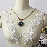 Applique in pizzo per abito o velo da sposa, color avorio, 33x 20,3cm, 6pezzi
