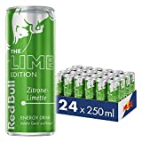 Red Bull Energy Drink Zitrone Limette 24 x 250 ml OHNE Pfand Dosen Getränke, Lime Edition 24er Palette