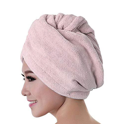 VRTUR Haarturban Handtuch für die Haare Haar Handtuch schnelltrocknendes Handtuch Mikrofaser Badetuch Hat Cap Lady Bath Tool(One size,C) (Im Halloween Spinnennetz Gesicht)