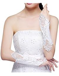 Liying Neu Brauthandschuhe Damen Fingerlose Spitze Handschuhe Hochzeit Abend Party satin sexy Spitzenhandschuhe