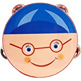 Mugig Tambourin Jouet Musical pour Enfant (Bleu)