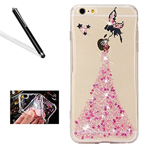 Coque iPhone 5S,Bling TPU Coque pour iPhone SE,Leeook Luxe Paillette
