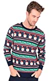 Seasons Greetings Adults Christmas Jumpers - XMAS - Eclipse Blue - Large