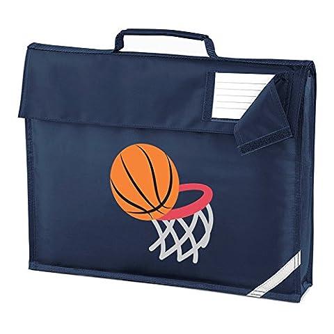 Apparel Printing Emoji Basketball And Hoop Homework Bag, French Navy