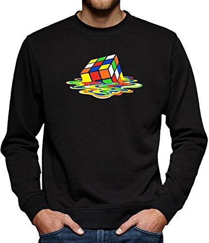 TLM Zauberwürfel Sweatshirt Pullover Herren L Schwarz (Leonard Big Bang Theory Kostüm)