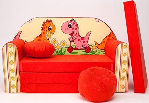 Pro cosmo divano letto con materasso futon mobili per bambini + pouffe/poggiapiedi e cuscino (f15)