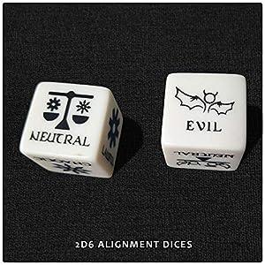 Doctor Frikistein RPG Character Dice Set | 4 Dados de 25mm para creación de Personajes | Compatible con D&D, Pathfinder y Juegos de rol de fantasía.