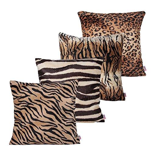 4 Bundle-fall (plandv® 2PCS Überwurf, Webpelz Kissenbezüge Kissenbezug für Sofa Kissen Fall erhältlich in 5Farben und 9verschiedenen Größen, Bundle Set B of 4, 55x55 cm)