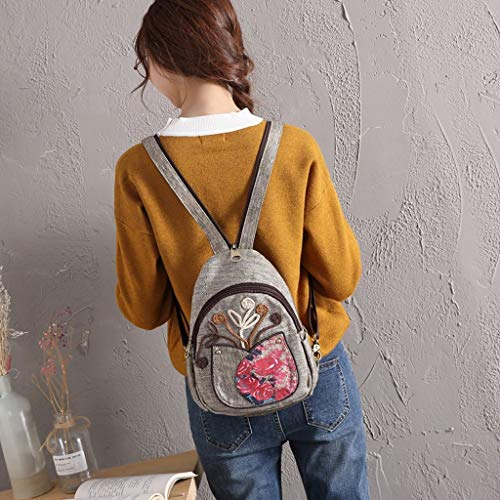 FORTR Home Butterfly Woven Backpack Mini Rucksack Schulter-Multifunktions-Rucksack