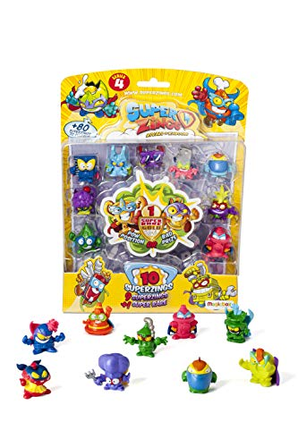 SUPERZINGS IV -  Blister 10 figuras ( 9 figuras SuperZings + 1 figura dorada Super Rare)