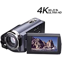 Videokamera Camcorder 4K Videokamera 48MP Wi-Fi Ultra Digitalkamera 3,0 ' ' Touchscreen Nachtsicht Video-Camcorder mit Pause-Funktion