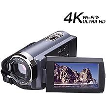 Videocámara vídeo 4k camcorder 48MP Wi-Fi Ultra cámara digital 3,0 ' ' pantalla táctil de vídeo de visión nocturna con función de pausa