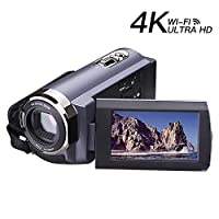 Camcorder Video Camera 4K Camcorder 48MP WI-FI Ultra Digitial Camera 3.0�??�?? Touch Screen Night Vision Video Camcorder with Pause Function