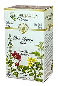 Blackberry Leaf Organic - 24 bag,(Celebration Herbals)