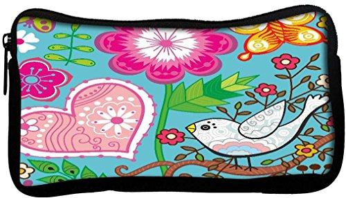 Snoogg Texture transparente avec fleurs Poly Canvas Student Pen Trousse Porte-monnaie Utility Pouch Sac de maquillage