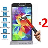 2 Films Vitre en Verre Trempé de protection Samsung Galaxy S5 NEO NEW by Campus Telecom®