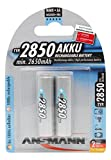 ANSMANN 5035202 wiederaufladbar Akku Batterie Mignon AA Typ 2850mAh NiMH hochkapazitiv Hohe Kapazität ohne Memory-Effekt Profi Digital Kamera-Akkubatterie 2er Pack