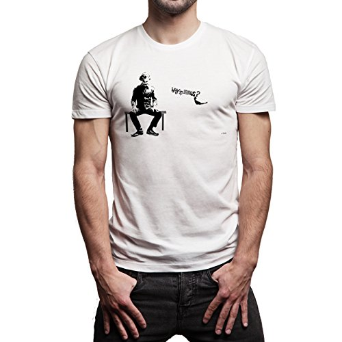 Why-So-Serious-Jocker-Batman-Background.jpg Herren T-Shirt Weiß