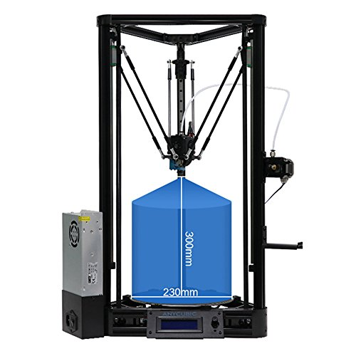 ANYCUBIC 3D Printer Update Kossel Linear Plus Version with Auto Leveling Modular Assembly