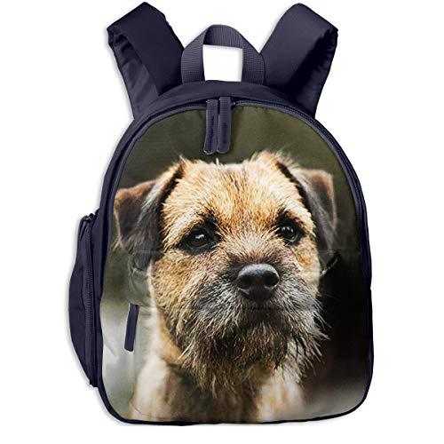 Kinderrucksack Border Terrier, Schulrucksack Für Mädchen Und Jungen Schultasche Schulranzen Teenager Backpack Daypack Freizeitrucksack Kinder Rucksack -