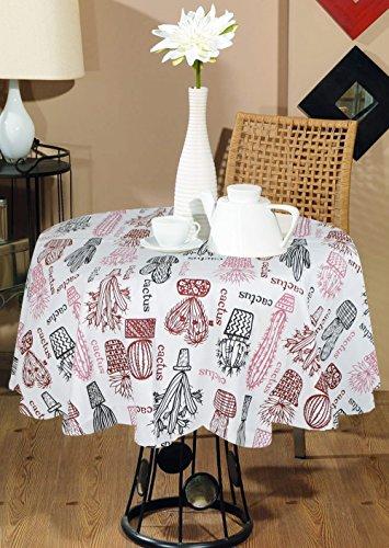 Indian tovaglia stampata rotondo decorativi -100 piante% cotone vaso di stampa tovaglia rotonda moderna marrone rosa -dia blu 140 cm