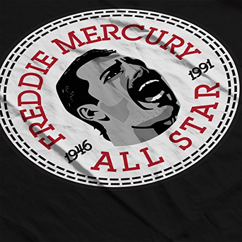 Freddie Mercury Converse All Star Icon Women's T-Shirt Black