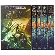 ‏‪Percy Jackson and the Olympians 5 Book Paperback Boxed Set (Covers W/Poster) by Rick Riordan, John Rocco - Paperback‬‏