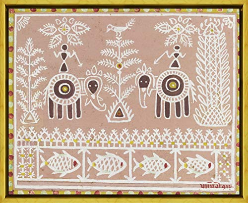Berkin Arts Marco Jamini Roy Giclee Lienzo Impresión Pintura póster Reproducción Print(Elefantes...