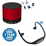 #2: Captcha Portable S10 Bluetooth Speaker Wireless Hands Free With TF, USB, and FM Support With BS19C Sports Bluetooth Headset Micro Sd Card Slot and FM Radio Functionality Compatible with Xiaomi, Lenovo, Apple, Samsung, Sony, Oppo, Gionee, Vivo Smartphones (1 Year Warranty)
