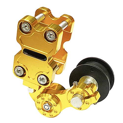 FLKAYJM Universal Motorrad Kettenspanner Aluminum Roller Chain Tensioner Bolt on Bauteilen Kette Adjuster Variomatik & Zubehör für Fahrrad ATV Chopper Dirt Bike Motocross,Golden