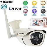 Wanscam® 960P 1.3MP HD IP Bullet Caméra 2 Gros LEDS IR 1/3 Inch CMOS 3,6 mm IR-CUT Nuit Vision Sécurité Extérieure Imperméable à l'eau Téléphone Contrôle HW0042