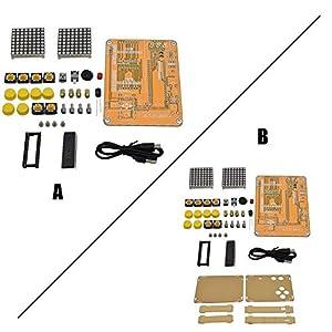 Purebesi DIY V2 Creative Game Kit, Elektronisches Experimentierset Für Tetris/Snake/Plane Shell
